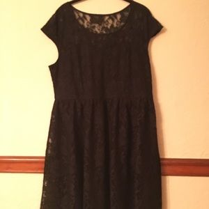 Lane Bryant Black Lace Dress